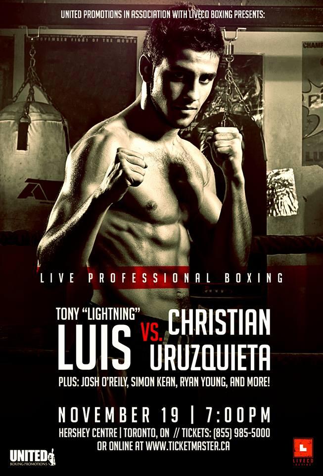 Tony Luis de retour sur le ring le 19novembre